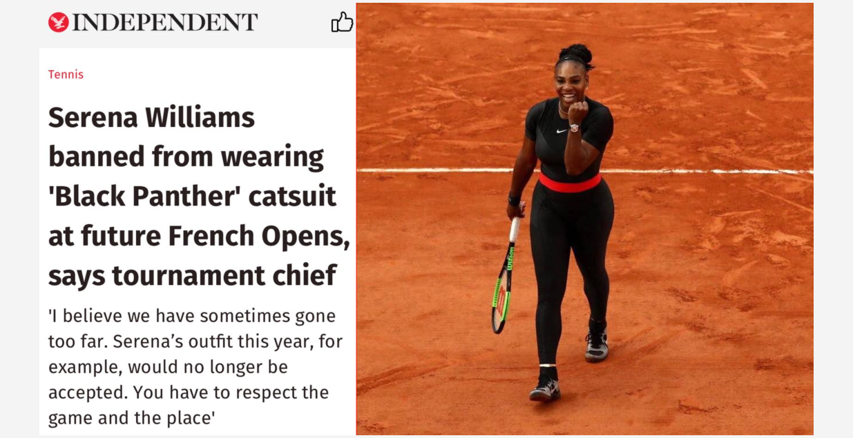 BLACK CHICK A LITTLE ROCKED: DEAR WHITE GIRLS OF TENNIS ...