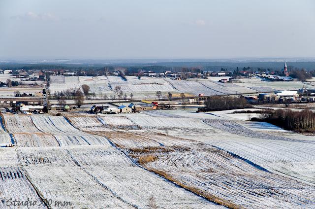Widok ze wzgórza Bełczyna (Bałczyna) w kierunku wschodnim