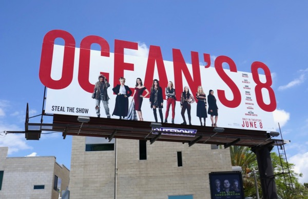 Oceans 8 movie cut-out billboard