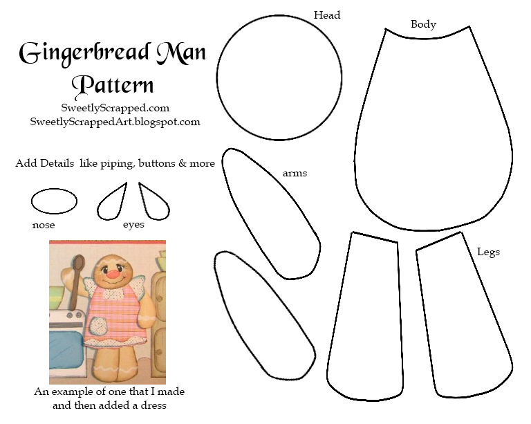 It is a picture of Handy Gingerbread Pattern Printable