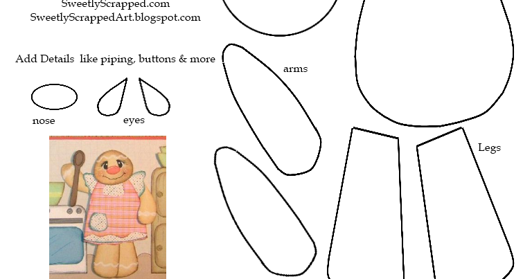 Sweetly Scrapped: Gingerbread Man Paper Piecing Pattern
