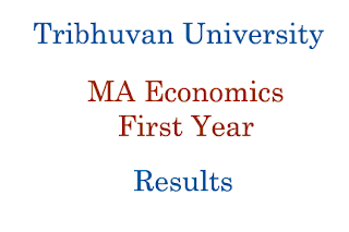 TU MA Economics First Year Results Published