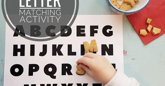 Simple alphabet matching activity