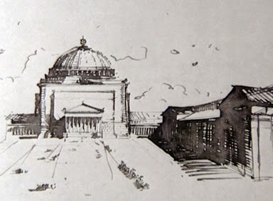 Boceto de Hitler del Volkshalle