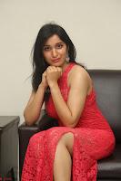 Sakshi Kakkar in Red Legsplit Sleeveless Gown at Dare movie Press meet ~  Exclusive 048.JPG