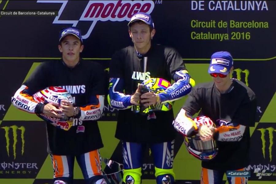 MotoGP 2016 Barcelona-Catalunya Spain Podium