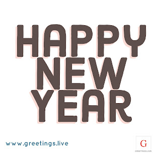 Plain white BG Only Happy New Year image