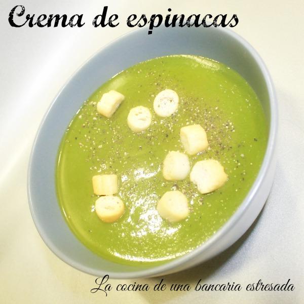 Receta de crema de espinacas, Thermomix y tradicional