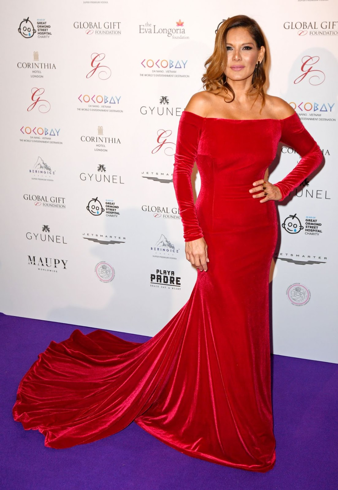 Photos of Ivonne Reyes in Hot red dress at Global Gift Gala in London