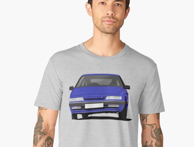 Citroen XM t-shirt in blue