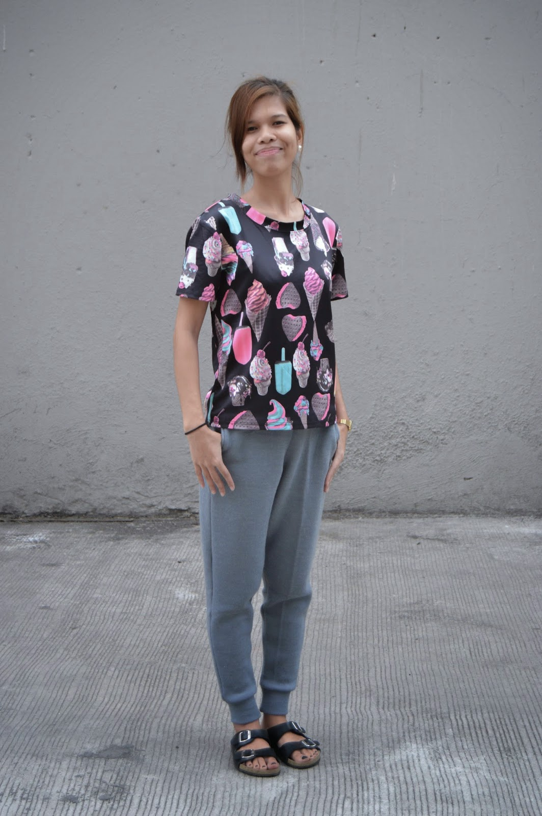 fashion blogger, style blogger, cebu blogger, cebu style blogger, blogger, filipina blogger, cebuana blogger, nested thoughts, katherine cutar, katherine anne cutar, katherineanika, katherine annika, ootd, ootd pilipinas, sugar coated, dessert, dessert outfit, ice cream, ice cream sandwich, mandal, birkenstock, birks, birks ph, birks cebu, joggers, joggers ph, joggers cebu