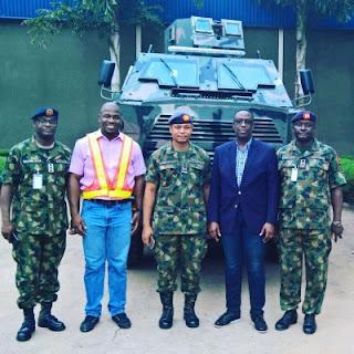 Ara ('Thunder') mine-resistant ambush-protected (MRAP) vehicle being commisioned