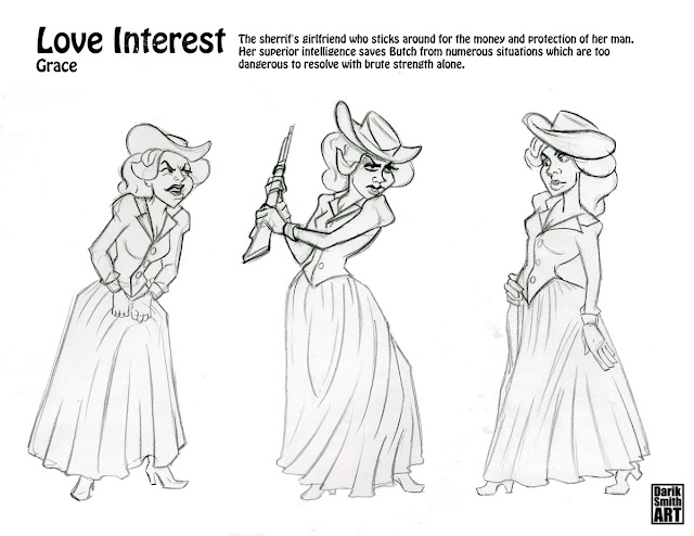Darik's Art Blog: Western Character Design Sketches