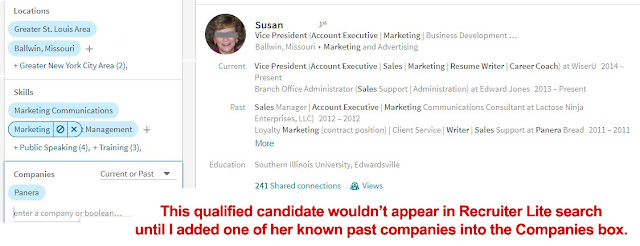 Searching for candidates using LinkedIn Recruiter Lite
