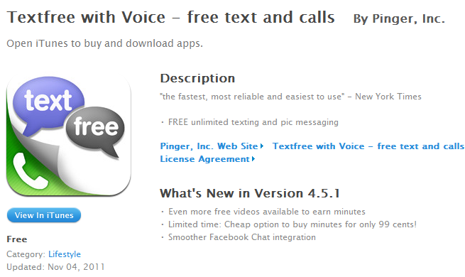 Green Espirit: Free iPhone iPod App for Free Unlimited Text