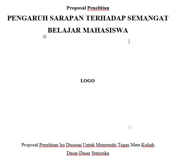 Contoh Proposal Penelitian Pengaruh Sarapan Terhadap Semangat