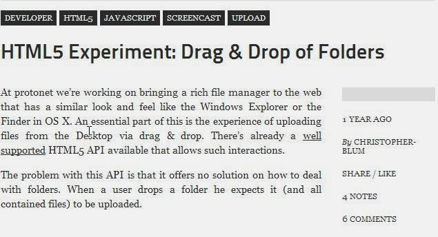 Upload All Files in a Folder with Drag and Drop HTML5