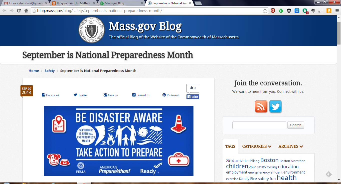 "September is ""National Preparedness Month"""