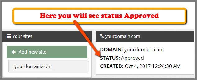 Domain verified status propeller ads media