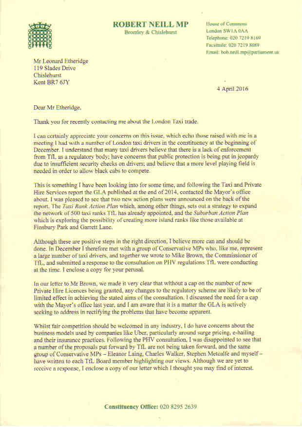 Dads defending daughters bob neill mp supports taxis you can see the template of my email if you click here bob neill mps reply is below spiritdancerdesigns Images