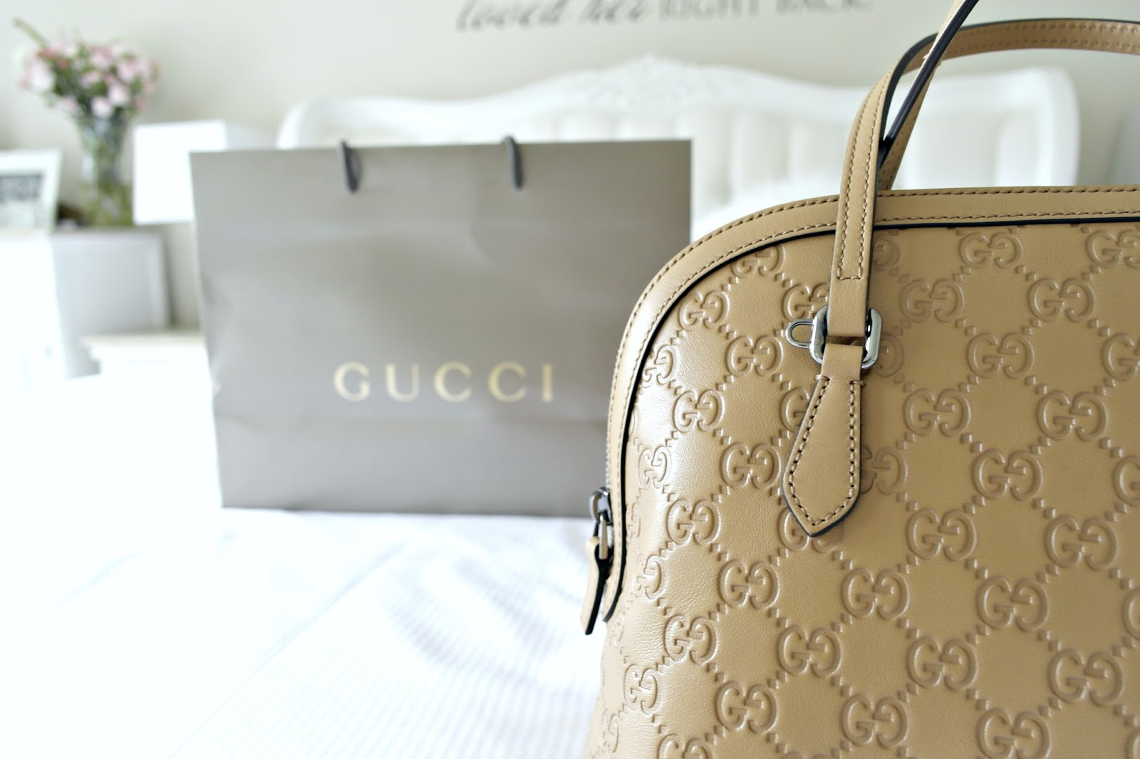 Gucci handbag, bicester village, fashion blogger