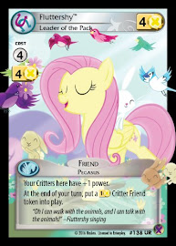 My Little Pony Fluttershy, Leader of the Pack Marks in Time CCG Card