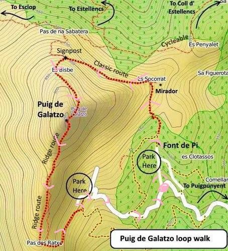 Trekking del Puig de Galatzó