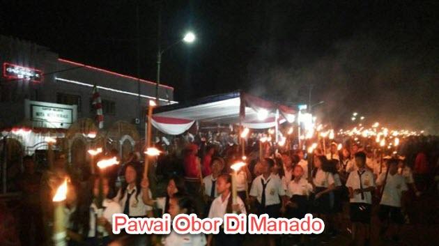 Pawai Obor di Manado