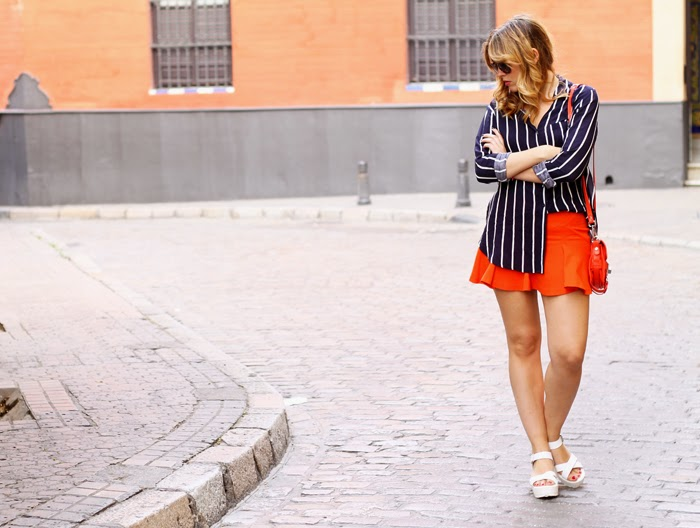 Orange and stripes