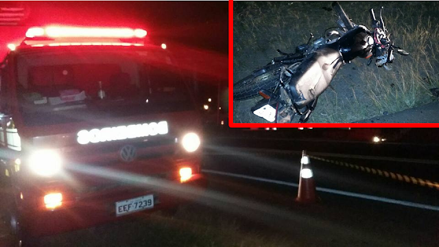 Motociclista morre ao bater de frente com carreta na rodovia SP 342 Pinhal x São João