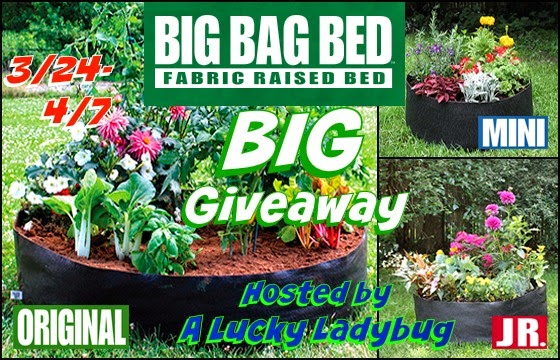 Enter the Big Bag Bed Giveaway. Ends 4/7