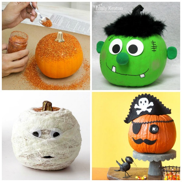 Pumpkin decorating ideas kids no carving Unique pumpkin decorating ideas