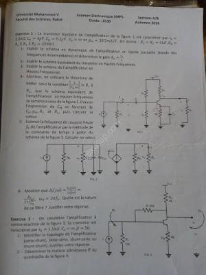 contrôle final électronique analogique smp5 fsr 2016/17