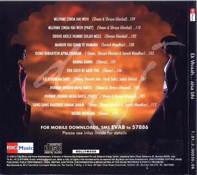 Main Woh Duniya Hai Mp3 320kbps: THE HOME OF SHREYA GHOSHAL SONGS: Ek Vivaah Aisa Bhi [2008