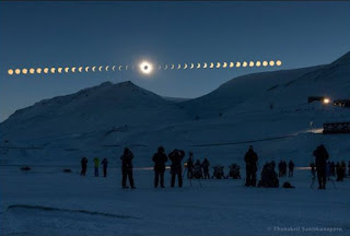 fases de um eclipse solar