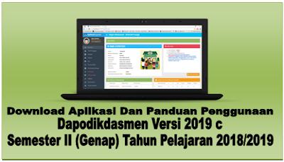 Aplikasi Dan Panduan Penggunaan Dapodikdasmen Versi 2019 c