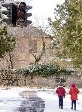 Городок безопасности движения в Детском парке Симферополя