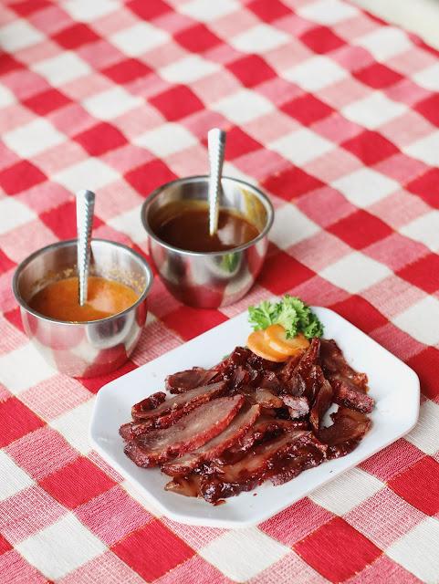 babi panggang manis, babi panggang merah, babi panggang lembut, charsiu, char siu, char siu pork
