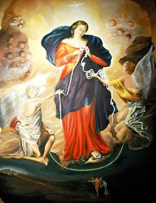 Imagen de la Virgen Desatando los Nudos de Una Cinta Blanca