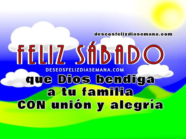 imagen con frases del sabado mensaje cristiano Dios te bendiga