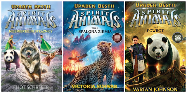 """Spirit Animals. Upadek Bestii"" 3 pierwsze tomy- Eliot Schrefer, Victoria Schwab, Varian Johnson"