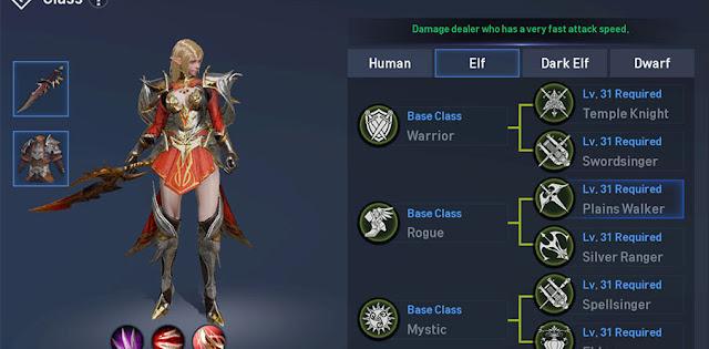 Class Job Elf Plains Walker di Lineage 2 Revolution Indonesia