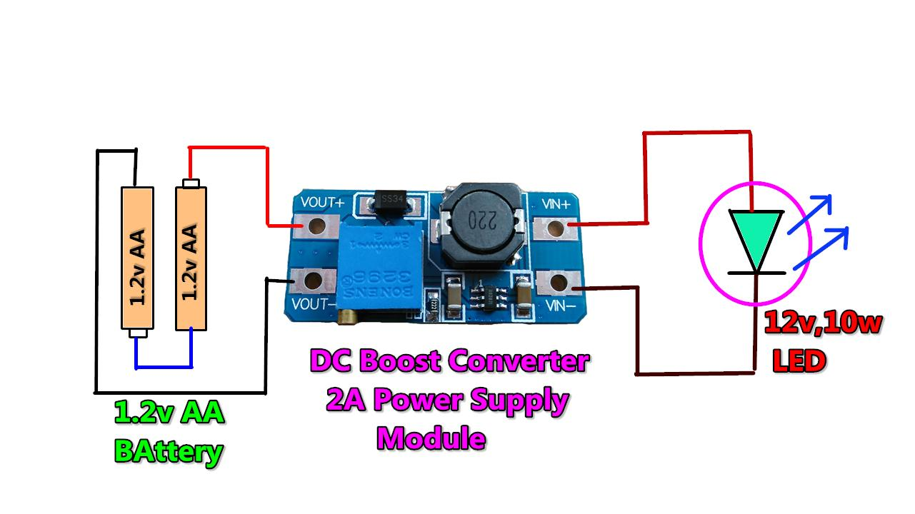 Power Gen Circuit Diagram List Part 2 Supply Circuitled Circuit10w 3v To 12v Dc Boost Converter Using Module