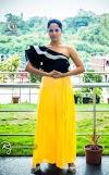 Indian TV Anchor Anasuya Photos In Black Top Yellow Lehenga