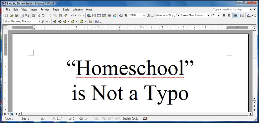 """Homeschool"" is Not a Typo"