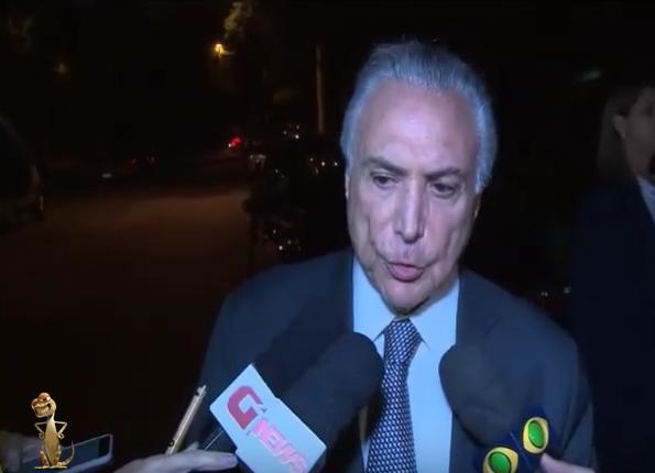 EX PRESIDENTE MICHEL TEMER VOLTA PARA O CHILINDRÓ