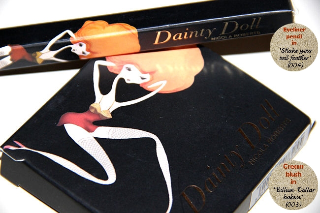 Dainty Doll by Nicola Roberts Cream blush (003) and Eyeliner pencil (004)