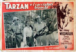 Tarzán y la cazadora 1947 - Cartel