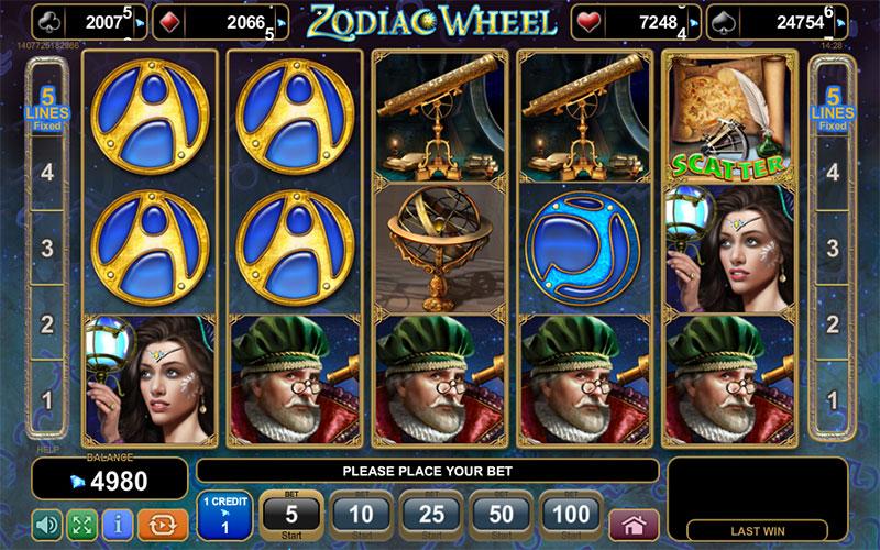 Jucat acum Zodiac Wheel Online