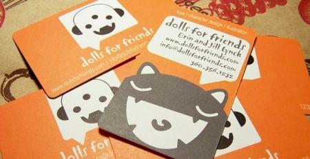 Dolls for friends – khi cầm vào tấm danh thiếp, người xem sẽ thấy những nhân vật  hoạt hình ngộ nghĩnh, dễ thương. Ghé thăm dollsforfriends.com để lựa những con búp bê đáng yêu tặng bạn bè nhé!